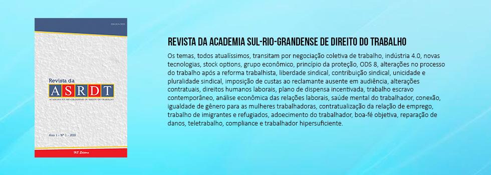 Revista da Academia Sul-Rio-Grandense de Direito do Trabalho